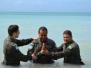 Capitães celebram batismos no Haiti